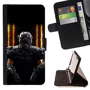 BullDog Case - FOR/LG Nexus 5 D820 D821 / - / FUTURE SOLDIER GAMING PC /- Monedero de cuero de la PU Llevar cubierta de la caja con el ID Credit Card Slots Flip funda de cuer