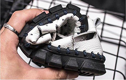 in pescatore in pelle vacchetta uomo scarpe da scarpe pelle Sandalo morbida di spiaggia retr antisdrucciolevole realizzato fondo da chiuso da pUvqWdg7