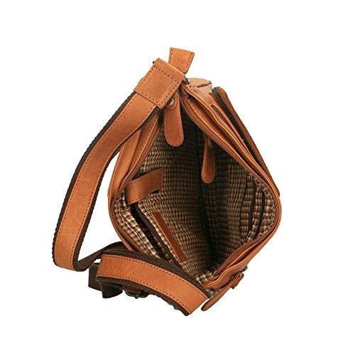 Auténtica Bolsa Luxury Borse Cm Chicca Pequeña En Broncearse De Cartera Viaje 28x24x6 Espalda Piel 4vTffW6