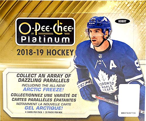 Hockey Hobby Pack - 2018/19 Upper Deck O-Pee-Chee (OPC) Platinum NHL Hockey HOBBY box