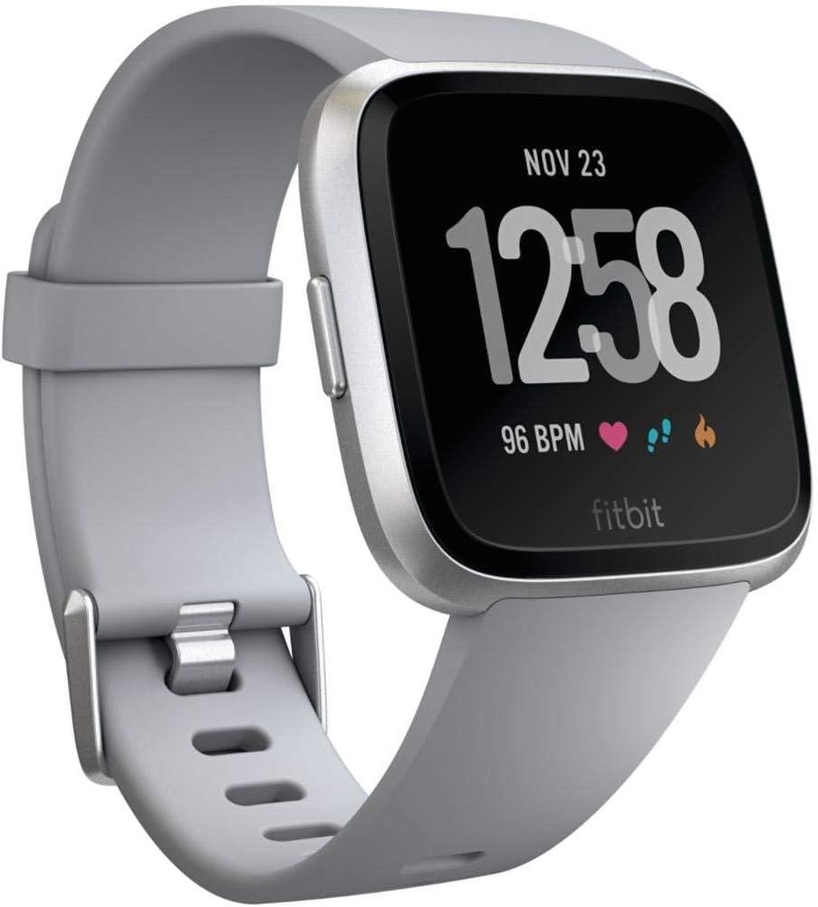 Fitbit Versa Smartwatch Gray//Silver Aluminum