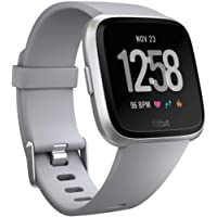 $169 » Fitbit Versa Smart Watch, Gray/Silver Aluminium, One Size (S & L Bands Included)