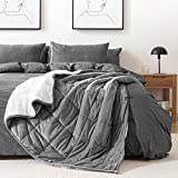 HBlife Sherpa Fleece Weighted Blanket for