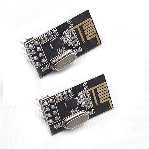2 opinioni per Sunfounder 2Pcs Nrf24L01+ 2.4Ghz