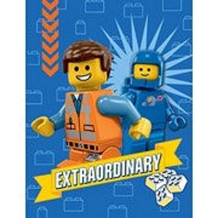 "Amazon.com: The Lego Movie Plush Throw Fleece Blanket 46"" x 60 ..."