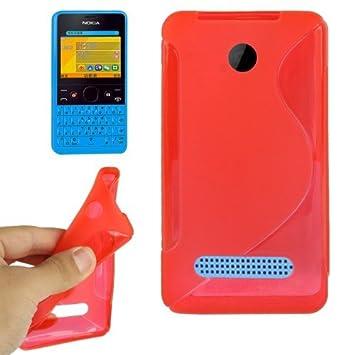 buy popular 27f8c 194d6 Case for Nokia Nokia Asha 210 Red S Line Anti-skid: Amazon.co.uk ...