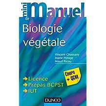 Mini Manuel de Biologie végétale : Cours + QCM (French Edition)