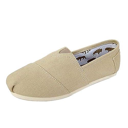Uirend Zapatos Alpargatas Mujer - Mujer Ocasionales Loafer Zapatos Moda Color Sólido Planos Alpargatas: Amazon.es: Zapatos y complementos