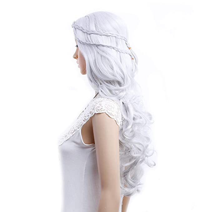 MOLUO Peluca Pelucas de Cosplay Game of Thrones Daenerys Targaryen ...