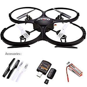 UDI U818A-HD 2.4GHz 4 CH 6 Axis Gyro Headless RC Quadcopter Drone RTF UFO With 2MP HD Camera, Speed Mode Flip Mode Return Home Function from UDI