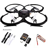 UDI U818A-HD 2.4GHz 4 CH 6 Axis Gyro Headless RC Quadcopter Drone RTF UFO With 2MP HD Camera, Speed Mode Flip Mode Return Home Function