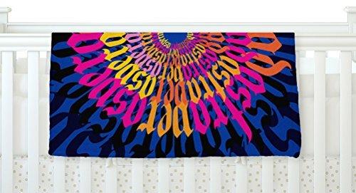 KESS InHouse Roberlan Ad Astra Per Aspera Mandala Blue Orange Fleece Baby Blanket 40 x 30 [並行輸入品]   B077YZQGXH