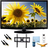 28'' LED 720p HDTV Clear Motion Rate 120 Plus Mount & Hook-Up Bundle - UN28H4000. Bundle Includes TV, Flat TV Mount, 3 Outlet Surge protector w/ 2 USB Ports, 2 -6 ft High Speed HDMI Cables, Performance TV/LCD Screen Cleaning Kit, and Cleaning Cloth.