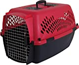 Petmate 21090 Aspen Pet Porter Heavy-Duty Pet Carrier With Secure Lock, 20-25 lbs, Deep Red/Black