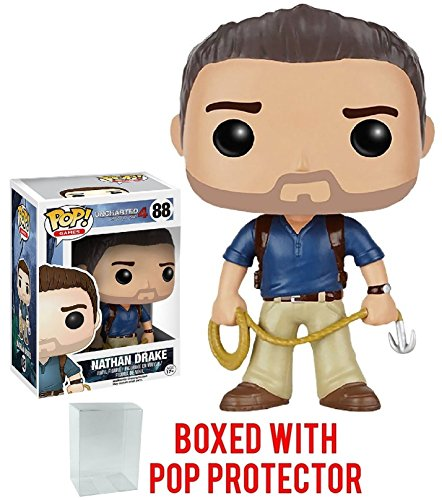 Funko Pop! Games: Uncharted - Nathan Drake Vinyl Figure (Bundled with Pop BOX PROTECTOR CASE)
