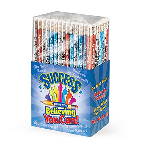 Test-Taking: Success Begins With Believing You Can 150-Piece Sparkle Foil Pencil Assortment Pack- Includes A Variety of Motivational Test-Taking Themes by Positive Promotions, Inc. (Image #1)