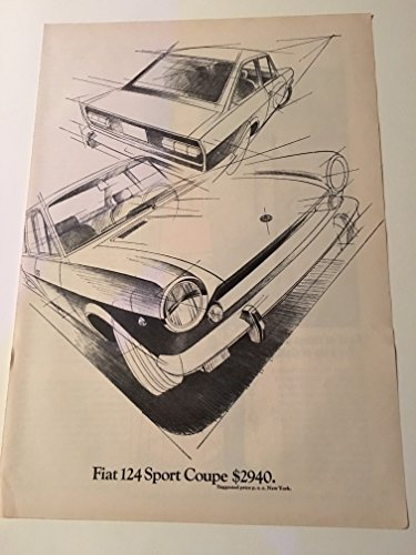 1969 Fiat 124 Sport Coupe Magazine Print Advertisement