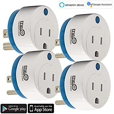 Smart Plug Wi-Fi Wireless World's Smallest Power Plug Works w/Amazon Alexa,Google Home No Hub Required, Remote Control Your Devices from Anywhere, ETL Listed with Timing Function for Smart Phone