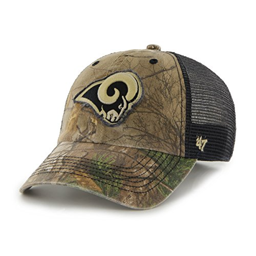 (NFL St. Louis Rams '47 Huntsman Closer Camo Mesh Stretch Fit Hat, One Size, Realtree Camouflage )