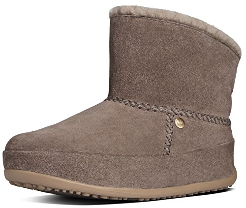 FitFlop Women's Mukluk Shorty Boot, Timber Wolf, 5 M US