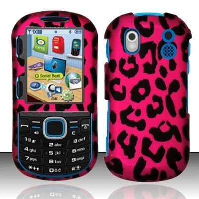 - Samsung Intensity 2 U460 Verizon Rubberized Designer HARD PROTECTOR COVER CASE SNAP ON PERFECT FIT - Pink Leopard