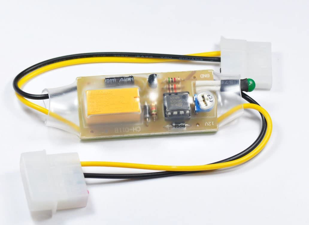 Automatic PC FAN 12VDC 1A On-Off by temperature control 10/'C 70/'C PCB board