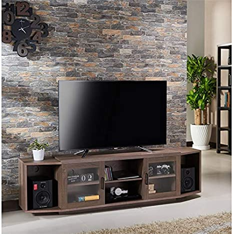 Furniture of America Lucas 70-inch TV Stand in Chestnut Brown