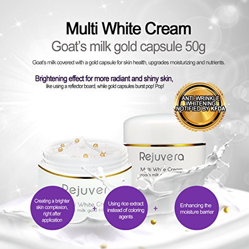 Rejuvera Multi White Cream Goats Milk 24k Gold Capsule 1 76oz Korea
