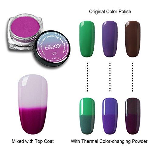 Elite99 Thermal Color-changing Nail Powder Gradient UV Gel M