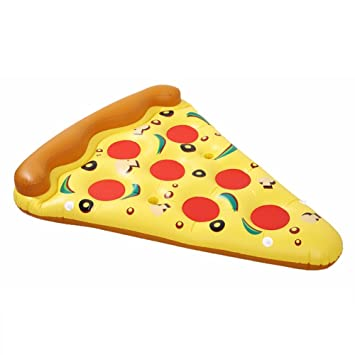 Balsas Inflables Piscina Y Flotadores para Adultos, Pizza Slice Piscina Flotador 6 Pies Diversión Niños Nadar Fiesta Juguete Enorme Verano Piscina Lounge ...