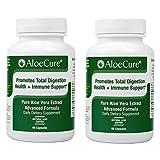 AloeCure Advanced Formula - Twice a Day Aloe Vera Capsule, 2 Pack, 120 Capsules