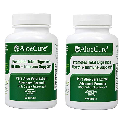 AloeCure Advanced Formula - Twice a Day Aloe Vera Capsule, 2 Pack, 120 Capsules