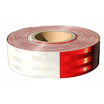 Moyishi Reflector DOT Tape Roll,30PCS 9 Meters Red/White, Caution Safety Warning Reflective, Visibility Film,Truck Car Trailer Adhesive Sticker: Automotive
