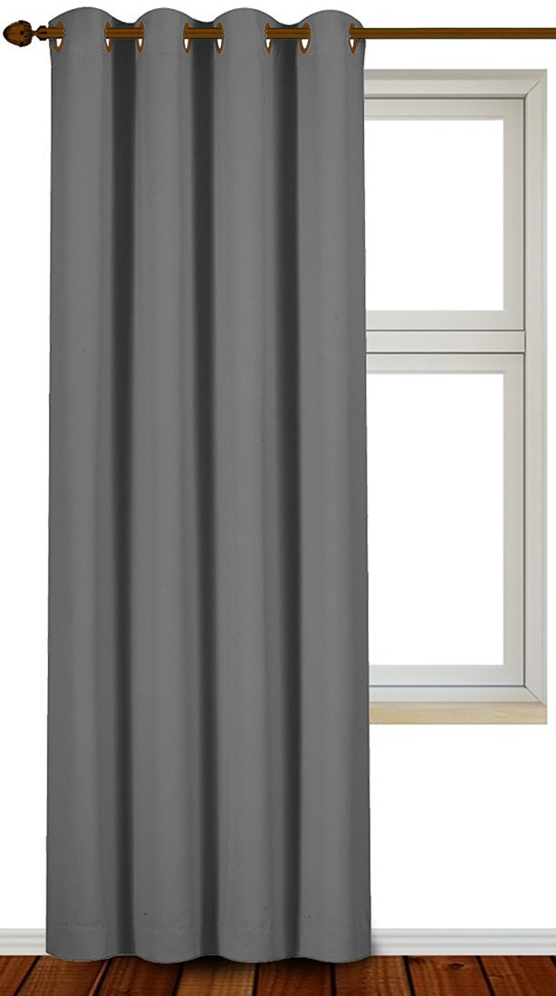 Blackout Room Darkening Curtains Grommet Window Panel