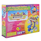 SKB family 37 Key Kids Musical Electronic Keyboard Organ Piano Microphone Synthesizer Stool