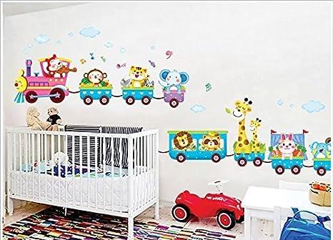 Rainbow Fox El arte Animales helado Tren pegatinas de pared para la  decoración de habitaciones para niños, cuarto de niños, bebé, Boys & Girls  ...