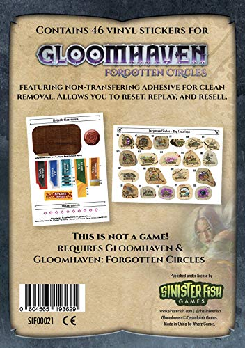 Cephalofair Games Gloomhaven Sticker Set: Forgotten Circle