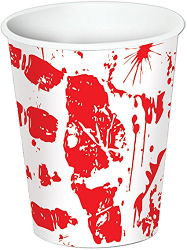 Beistle 08203 Bloody Handprints Cups, 9-Ounce