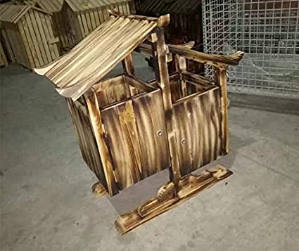 Todos Madera Antiséptico Zona de madera escénica Retro Trash Cabin Al aire libre Gran caja de