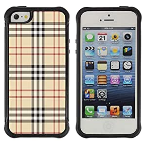 "Pulsar iFace Series Tpu silicona Carcasa Funda Case para Apple iPhone SE / iPhone 5 / iPhone 5S , Marca Tela estilo de la moda patrón clásico de Brown"""