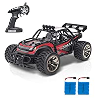 Gimilife Remote Control Car, Fast Toy RC Vehicle,Terrain RC Cars,Electric Remote Control Off Road Monster Truck,RC Cars for Kids Toddler Gift,Desert Off-Road Vehicle,2.4Ghz Radio 2WD Monster Truck