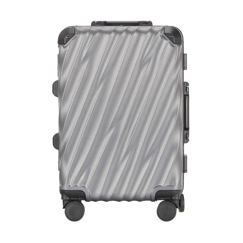 Color : Iron Gray, Size : 20 inches Male and Female Lightweight ABS Portable Consignment Suitcase Trolley Case Lock 4 Wheels CLOUD Luggage Sets Travel Suitcase