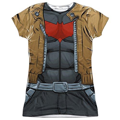 Juniors: Batman- Red Hood Uniform Costume Tee Juniors (Slim) T-Shirt Size L - New Batman Affleck Costume