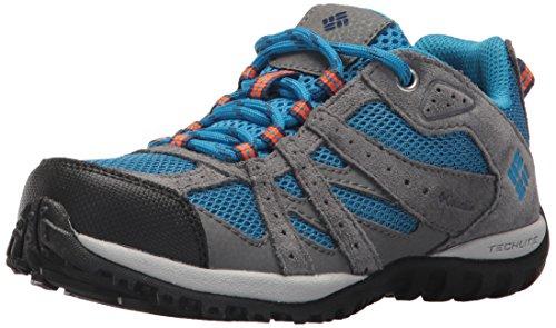 Columbia Unisex-Kids Youth Redmond Hiking Shoe, Static Blue, Heatwave, 3 Regular US Little Kid