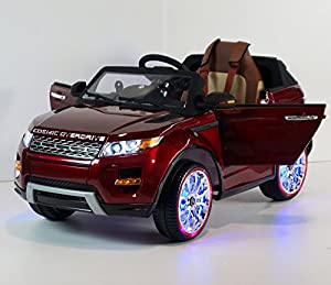 KIDS-CAR LAND ROVER MP3+MP4 Electric car Power wheels. Range Rover Leather Seat For children's 2 to 7 years. 12V BATTERY total. Ride on Toy Car OPENING DOORS! Car to drive for boys and girls!