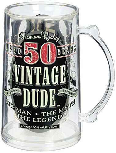 Laid Back CF11003 50th BD Vintage Dude Tankard, 14-Ounce