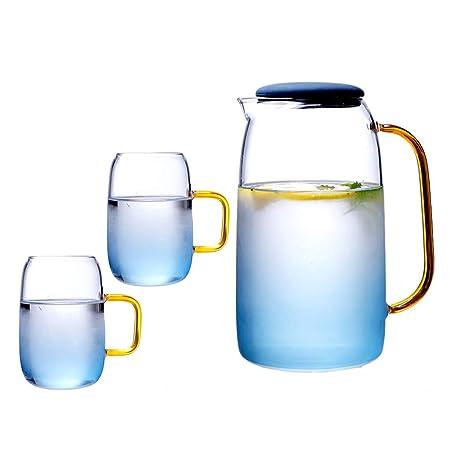 huyiko - Hervidor de té de Cristal, Tetera con infusor ...