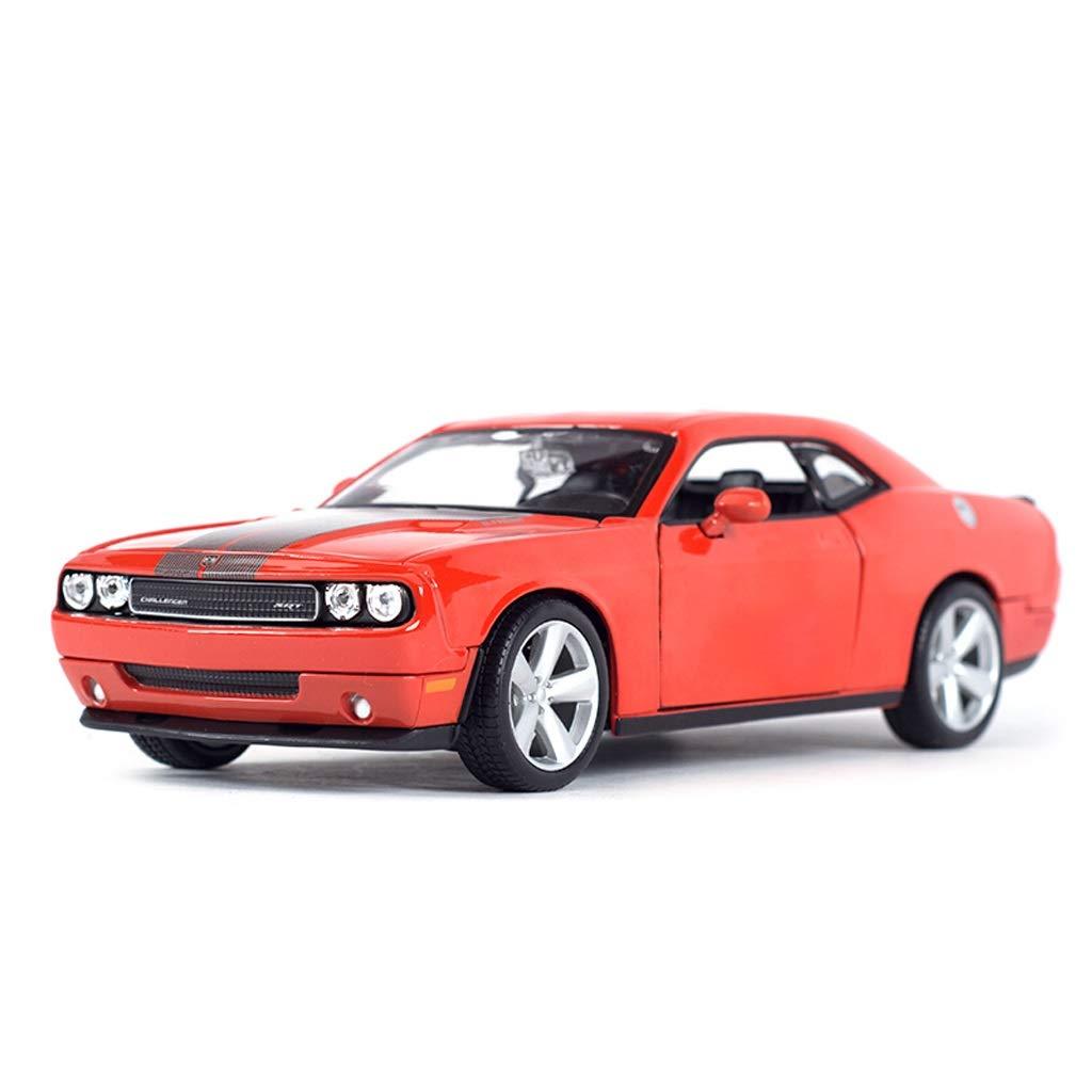 HJCM-Modellauto Druckguss-Modell Alloy Car Model Collection Modell Dekoration 2008 Dodge Challenger Auto Modell Dekoration Dekoration