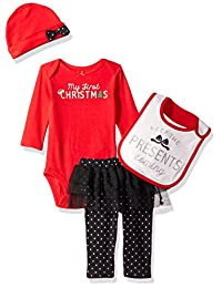 Simple Joys by Carter's Girls' 4-Piece My First Christmas Set