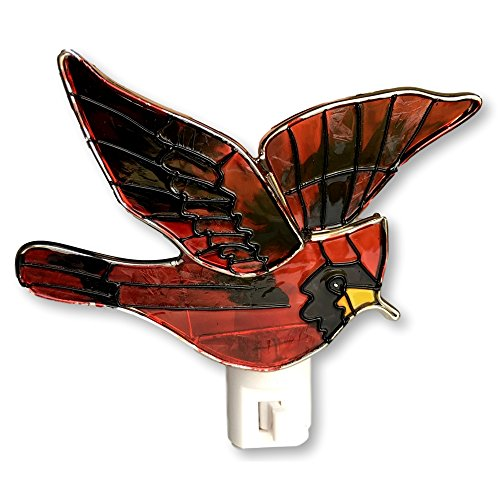 Louis Cardinals Night Light - Red Cardinal Bird Night Light Stained Glass